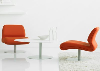 attitude lounge chair and a table by Morten Voss