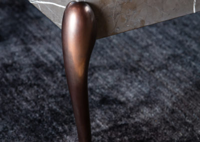 Flightdeck bronzed table legs. Design Morten Voss